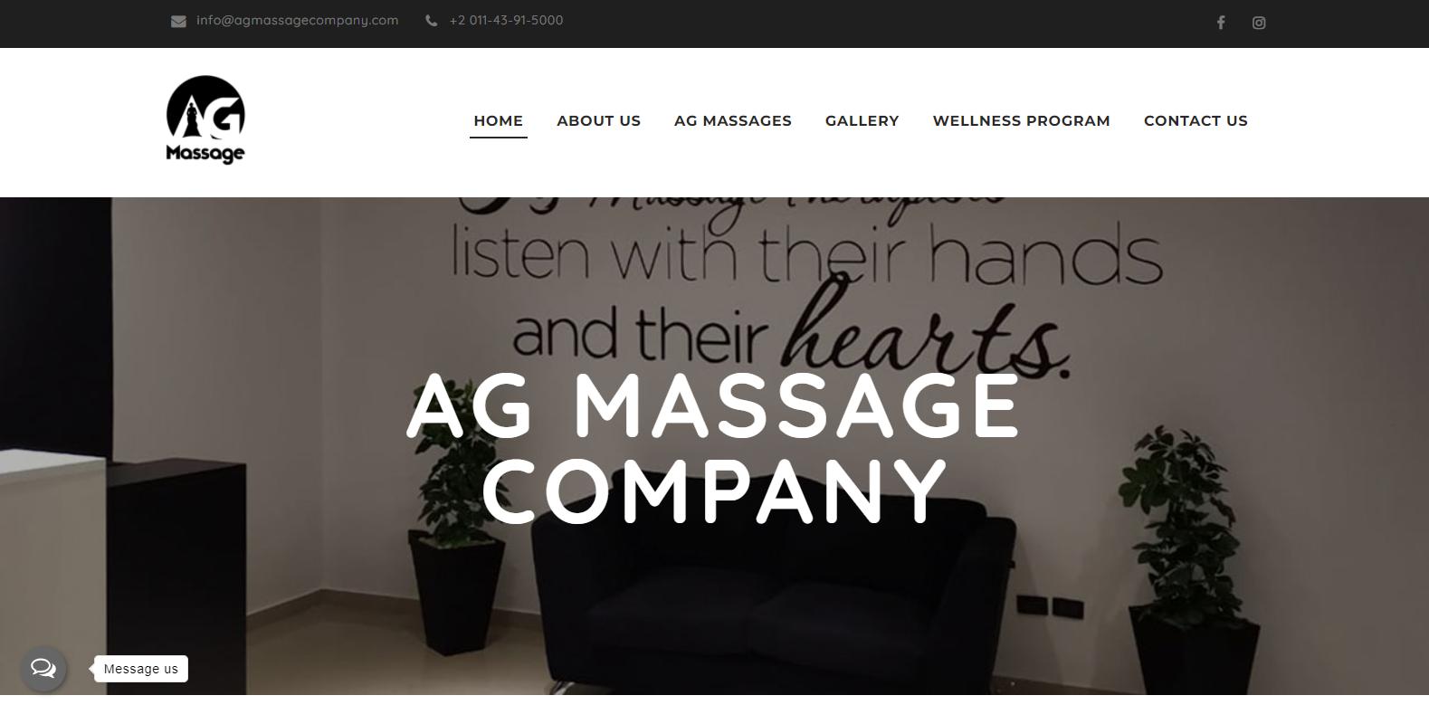 Website portfolio AG Massage