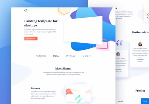 Free-Material-Design-HTML-Landing-Page